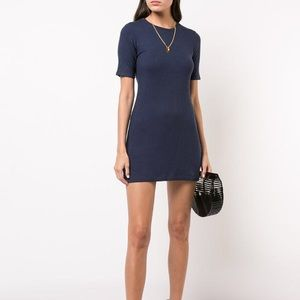 Reformation Gigi Dress In Navy, Size Medium